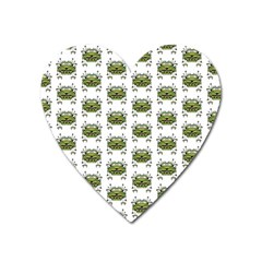 Funny Robot Cartoon Heart Magnet by dflcprints