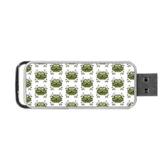 Funny Robot Cartoon Portable Usb Flash (two Sides) by dflcprints
