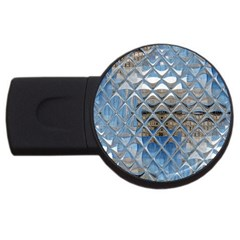 Mirrored Glass Tile Urban Industrial Usb Flash Drive Round (2 Gb)  by CrypticFragmentsDesign
