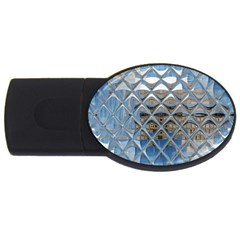 Mirrored Glass Tile Urban Industrial Usb Flash Drive Oval (4 Gb)  by CrypticFragmentsDesign