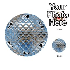 Mirrored Glass Tile Urban Industrial Playing Cards 54 (round)  by CrypticFragmentsDesign