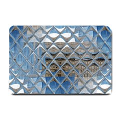 Mirrored Glass Tile Urban Industrial Small Doormat  by CrypticFragmentsDesign