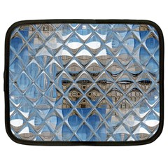 Mirrored Glass Tile Urban Industrial Netbook Case (large) by CrypticFragmentsDesign