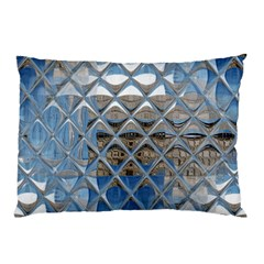 Mirrored Glass Tile Urban Industrial Pillow Case by CrypticFragmentsDesign