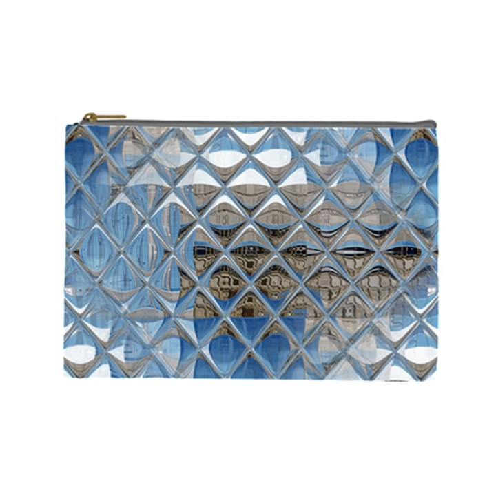 Mirrored Glass Tile Urban Industrial Cosmetic Bag (Large)
