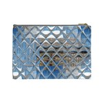 Mirrored Glass Tile Urban Industrial Cosmetic Bag (Large)  Back