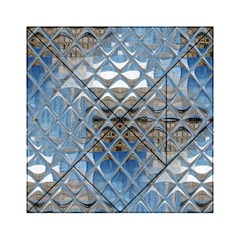Mirrored Glass Tile Urban Industrial Acrylic Tangram Puzzle (6  X 6 ) by CrypticFragmentsDesign