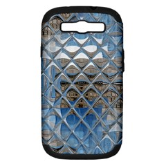 Mirrored Glass Tile Urban Industrial Samsung Galaxy S Iii Hardshell Case (pc+silicone) by CrypticFragmentsDesign
