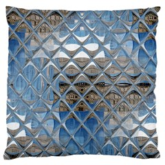 Mirrored Glass Tile Urban Industrial Standard Flano Cushion Case (Two Sides) by CrypticFragmentsDesign