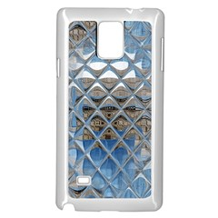 Mirrored Glass Tile Urban Industrial Samsung Galaxy Note 4 Case (white) by CrypticFragmentsDesign