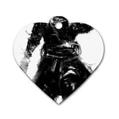 Assassins Creed Black Flag Tshirt Dog Tag Heart (one Side) by iankingart