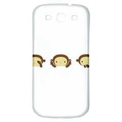 Three Wise Monkeys Samsung Galaxy S3 S Iii Classic Hardshell Back Case by Shopimaginarystory