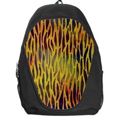 Colored Tiger Texture Background Backpack Bag by TastefulDesigns