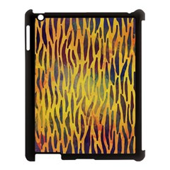 Colored Tiger Texture Background Apple Ipad 3/4 Case (black) by TastefulDesigns