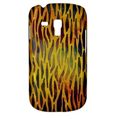 Colored Tiger Texture Background Samsung Galaxy S3 Mini I8190 Hardshell Case by TastefulDesigns