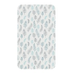 Whimsical Feather Pattern Dusk Blue Memory Card Reader (rectangular) by Zandiepants