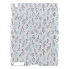 Whimsical Feather Pattern Dusk Blue Apple Ipad 3/4 Hardshell Case by Zandiepants