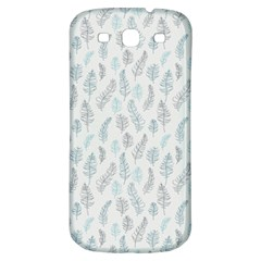 Whimsical Feather Pattern Dusk Blue Samsung Galaxy S3 S Iii Classic Hardshell Back Case by Zandiepants