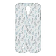 Whimsical Feather Pattern Dusk Blue Samsung Galaxy S4 I9500/i9505 Hardshell Case by Zandiepants