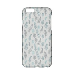 Whimsical Feather Pattern Dusk Blue Apple Iphone 6/6s Hardshell Case by Zandiepants