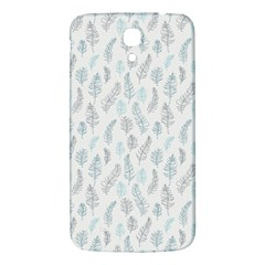 Whimsical Feather Pattern Dusk Blue Samsung Galaxy Mega I9200 Hardshell Back Case by Zandiepants