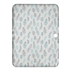 Whimsical Feather Pattern Dusk Blue Samsung Galaxy Tab 4 (10 1 ) Hardshell Case  by Zandiepants