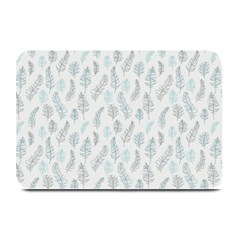 Whimsical Feather Pattern Dusk Blue Plate Mat by Zandiepants