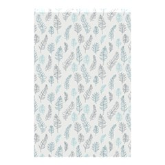 Whimsical Feather Pattern Dusk Blue Shower Curtain 48  X 72  (small) by Zandiepants