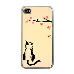 Luck And Patience Cat  Apple Iphone 4 Case (clear) by FundaKindaDay