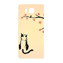 Luck And Patience Cat  Samsung Galaxy Alpha Hardshell Back Case by FundaKindaDay