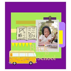 Back To School By School   Drawstring Pouch (large)   5sspt73r7p1x   Www Artscow Com Front