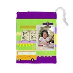 back to school - Drawstring Pouch (Large)