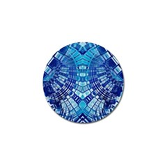 Blue Mirror Abstract Geometric Golf Ball Marker (10 Pack) by CrypticFragmentsDesign