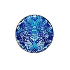 Blue Mirror Abstract Geometric Hat Clip Ball Marker (10 Pack) by CrypticFragmentsDesign