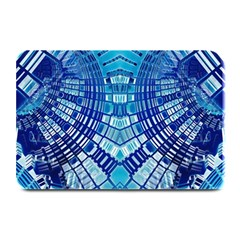 Blue Mirror Abstract Geometric Plate Mats by CrypticFragmentsDesign