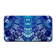 Blue Mirror Abstract Geometric Medium Bar Mats by CrypticFragmentsDesign