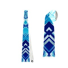 Blue Mirror Abstract Geometric Neckties (one Side)  by CrypticFragmentsDesign