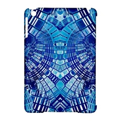 Blue Mirror Abstract Geometric Apple Ipad Mini Hardshell Case (compatible With Smart Cover) by CrypticFragmentsDesign