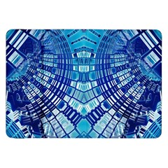 Blue Mirror Abstract Geometric Samsung Galaxy Tab 8 9  P7300 Flip Case by CrypticFragmentsDesign