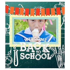 Back To School By School   Drawstring Pouch (medium)   Hlbde87inbbg   Www Artscow Com Front