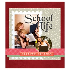 Back To School By School   Drawstring Pouch (medium)   2y789zab30p9   Www Artscow Com Front
