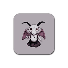 Plushie Baphomet Rubber Square Coaster (4 pack)  by lvbart