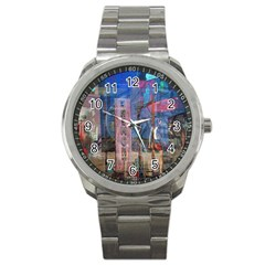 Las Vegas Strip Walking Tour Sport Metal Watch by CrypticFragmentsDesign