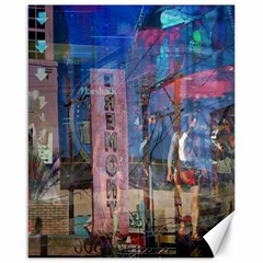Las Vegas Strip Walking Tour Canvas 16  X 20   by CrypticFragmentsDesign