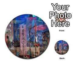 Las Vegas Strip Walking Tour Multi Purpose Cards (round)  by CrypticFragmentsDesign