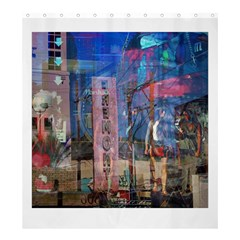Las Vegas Strip Walking Tour Shower Curtain 66  X 72  (large)  by CrypticFragmentsDesign