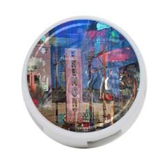 Las Vegas Strip Walking Tour 4 Port Usb Hub (one Side) by CrypticFragmentsDesign