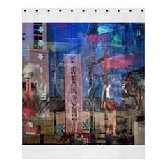 Las Vegas Strip Walking Tour Shower Curtain 60  X 72  (medium)  by CrypticFragmentsDesign