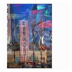 Las Vegas Strip Walking Tour Small Garden Flag (two Sides) by CrypticFragmentsDesign