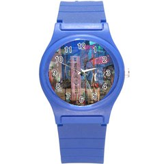 Las Vegas Strip Walking Tour Round Plastic Sport Watch (s) by CrypticFragmentsDesign